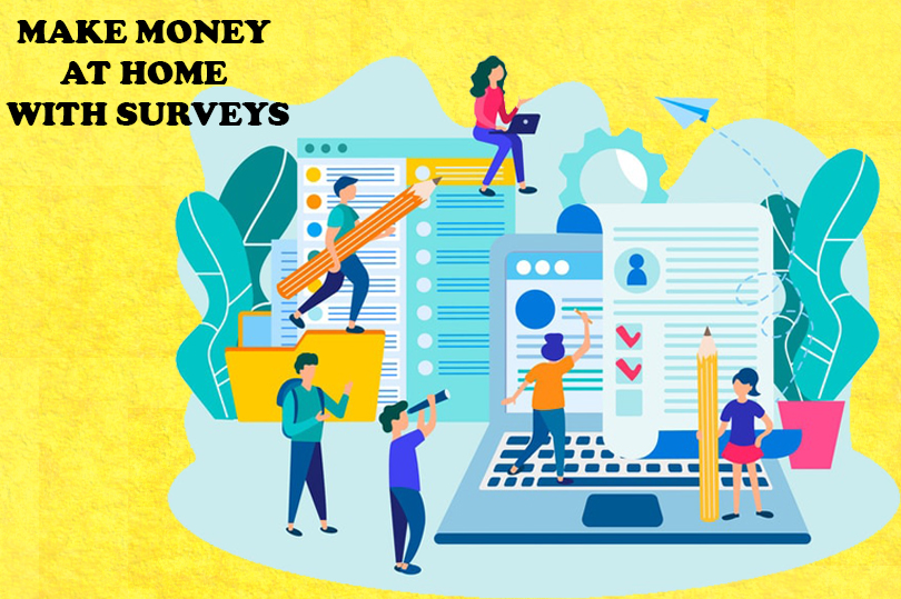 earn money at home with surveys